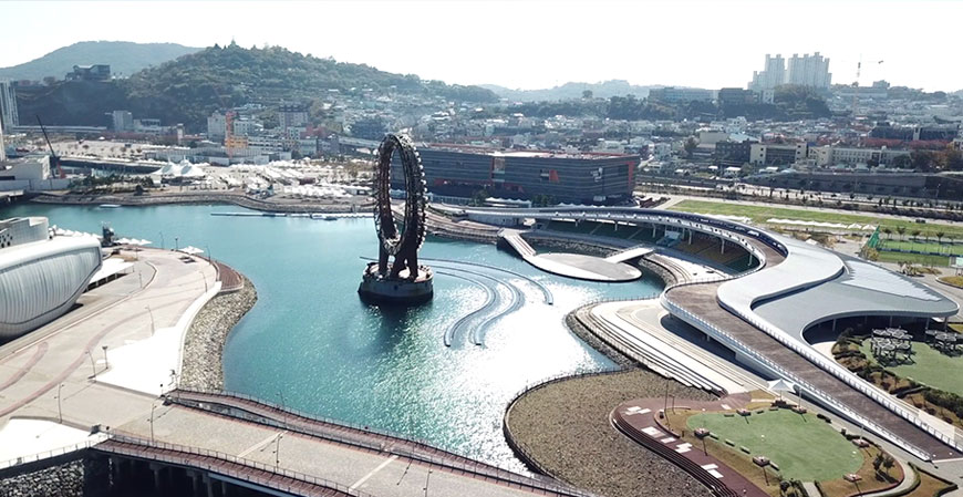 Yeosu EXPO Ocean Park. Gwangju 2019 World Championships open water swimming venue