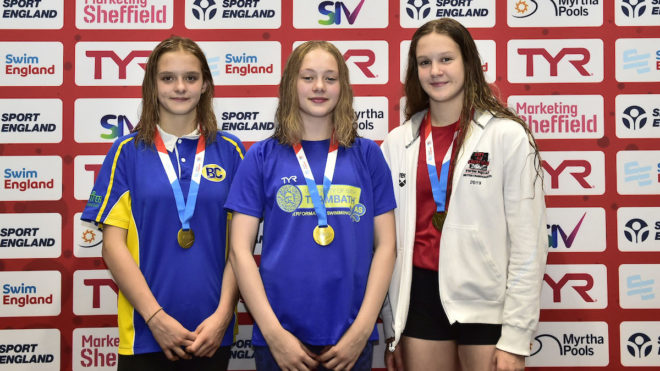 Abigail Miles holds on for first gold at National Summer Meet