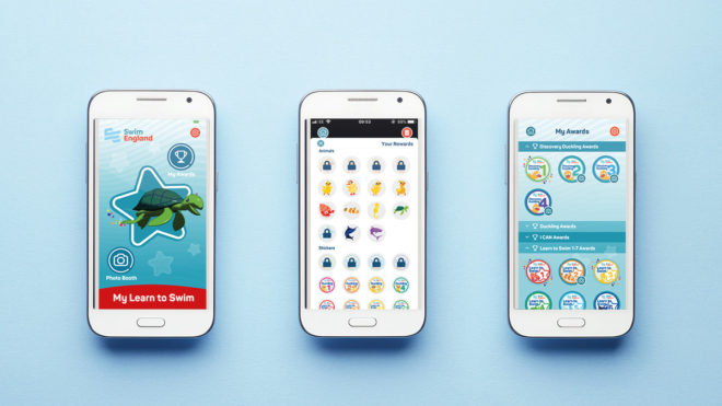Celebrate learning to swim with the  My Learn to Swim app