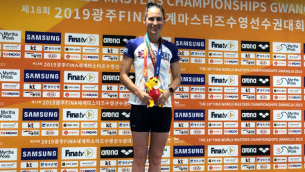 Ceri Edwards wins double gold at FINA World Masters Championships