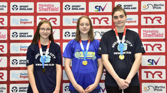 Double gold for Guildford's Eardley sisters at National Summer Meet