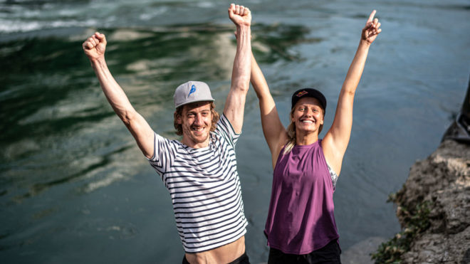 Gary Hunt celebrates record eighth Red Bull Cliff Diving World Series title