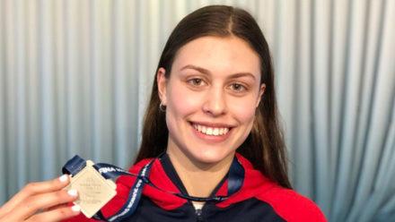 Record breaking Kayla van der Merwe wins silver at World Junior Swimming Championships