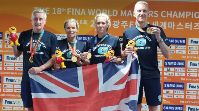 Spencer, Guildford and RAF win relay medals at World Masters Championships
