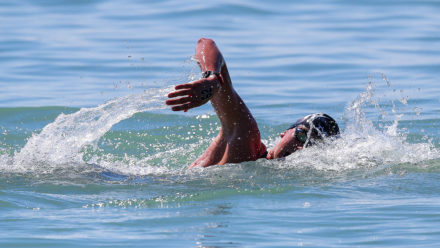 How to build skills practice into an open water training swim