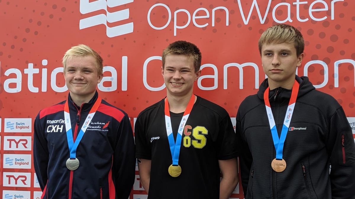 Joseph Stout won gold in the Boys 14 Years 3k race