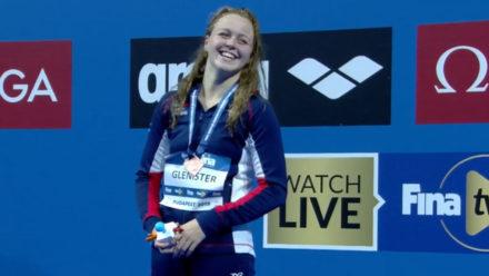Michaella Glenister wins bronze for Britain at World Junior Swimming Championships