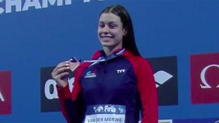 Kayla van der Merwe sets new personal best on way to world junior bronze medal