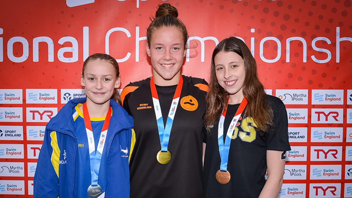 Ruby Wheeler won her second open water national age group title