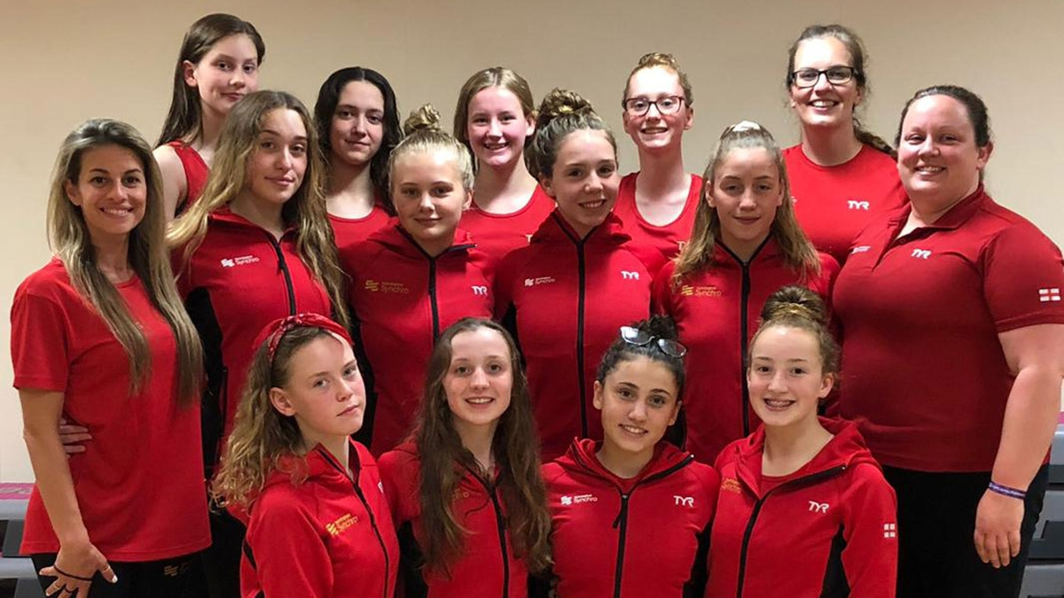 The 12 youngsters and coaches who will be travelling to Slovakia for the irst ever FINA World Youth Artistic Swimming Championships