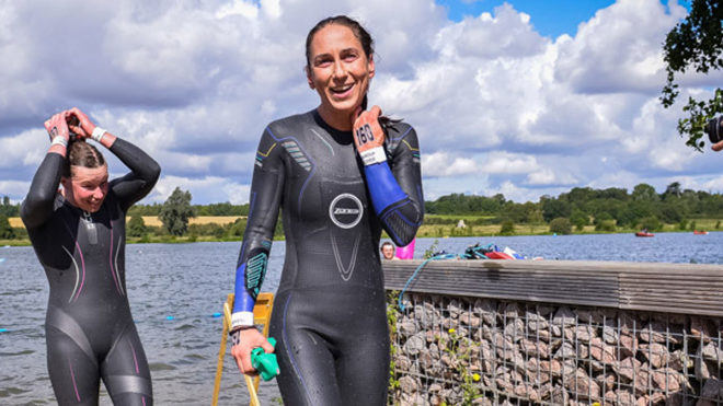 World champion Ceri Edwards adds national open water title to medal haul