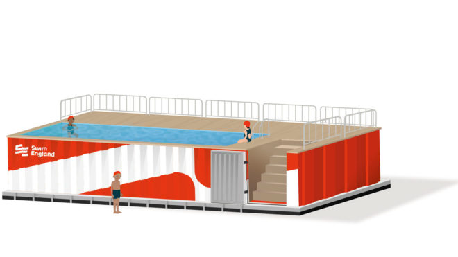 Swim England to transform shipping container into portable pool for schools