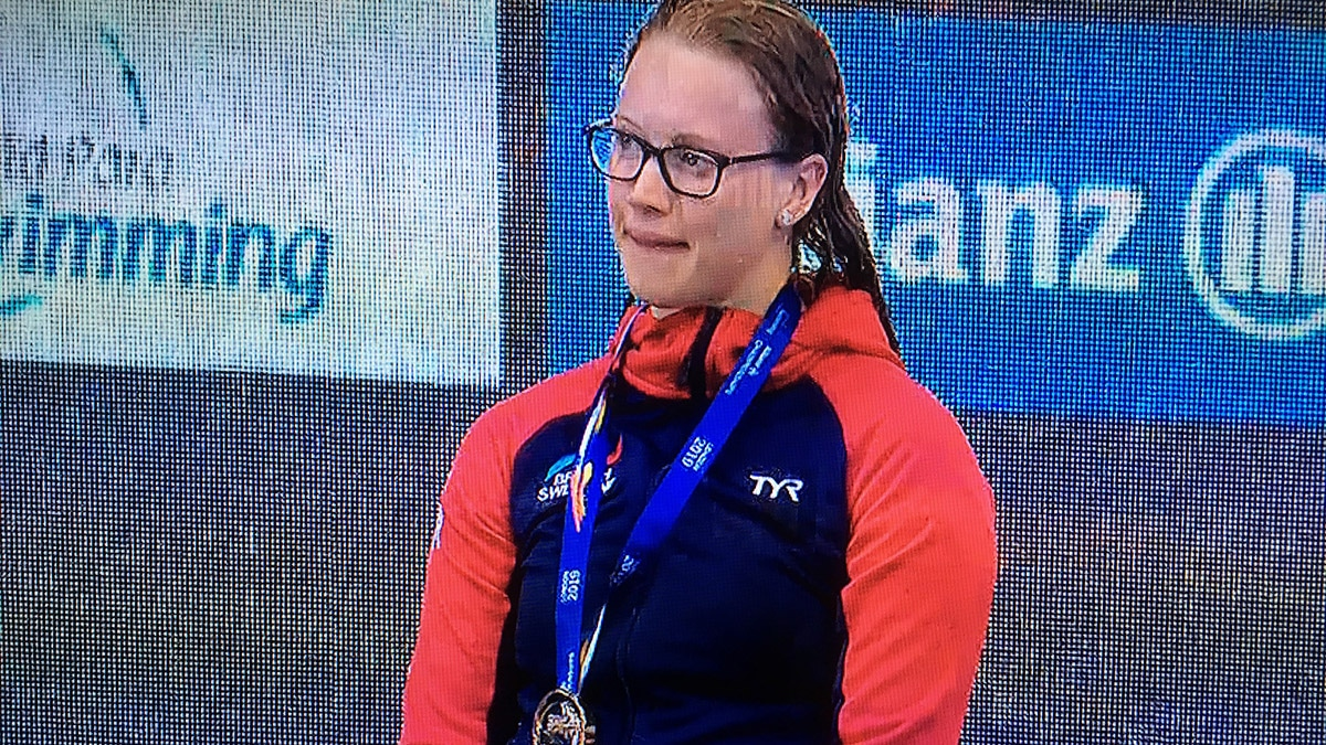 Brock Whiston triumphed in the Women's SB8 100m Breaststroke at the World Para Swimming Championships
