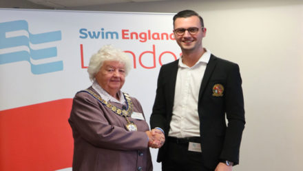 Flo Barnes installed as Swim England London region president at ACM