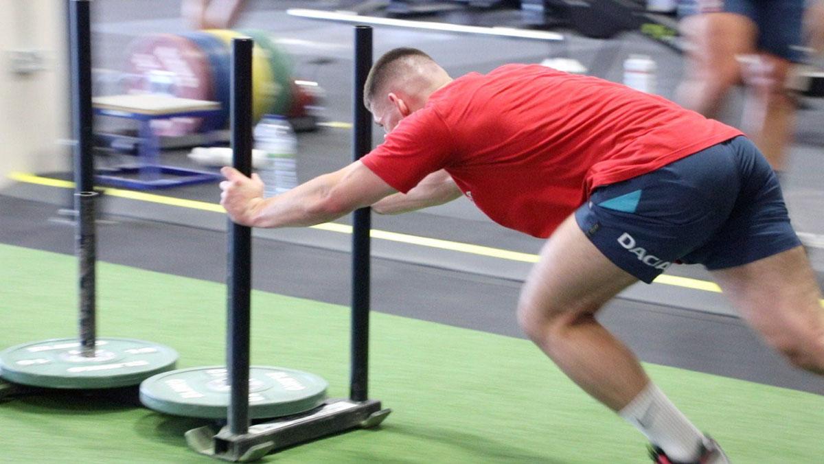 Danny Walker, England Knights RL player, training
