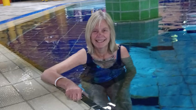 'I always wanted to be able to swim and was cross at myself for not being able to'