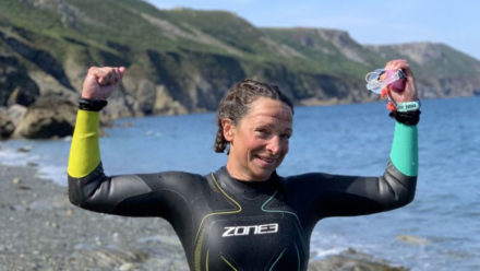 The inside story of Sadie Davies' historic swim to Lundy
