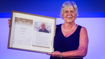 Synchronised swimming stalwart Jenny Gray amazed at Hall of Fame induction