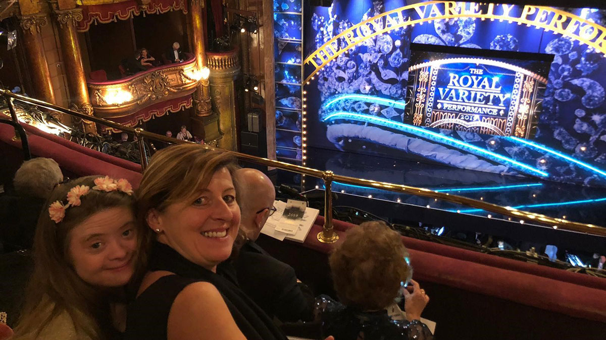 Alice Turner and her mum at The Royal Variety Performance