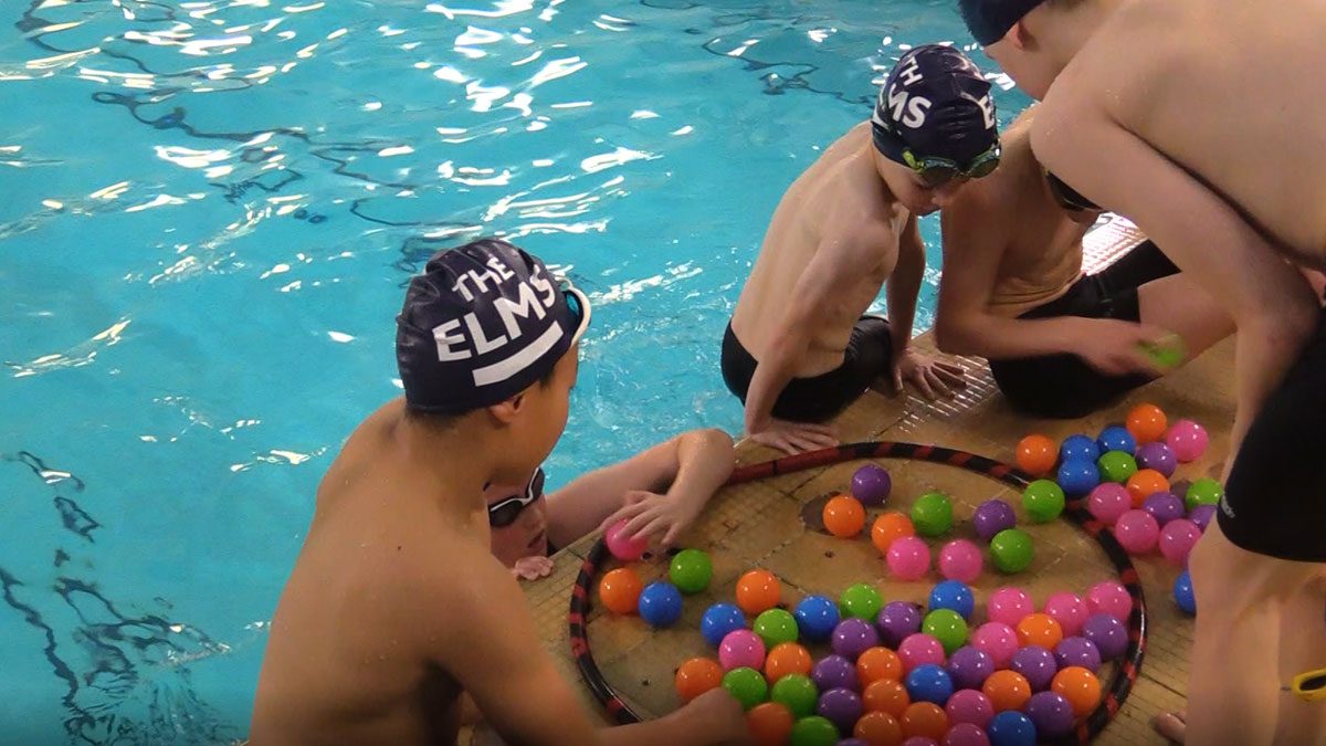 Big School Swim ball game