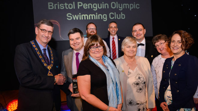 Bristol Penguins win the Swim England Club of the Year Award