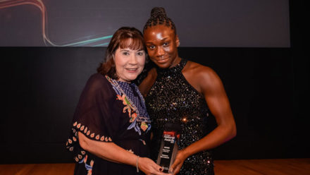 Desharne Bent-Ashmeil's rapid rise leads to Talent Athlete of the Year award