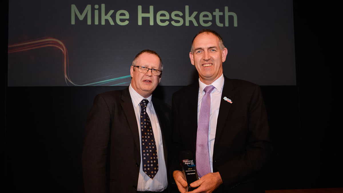 Volunteer of the Year Award winner, Mike Hesketh