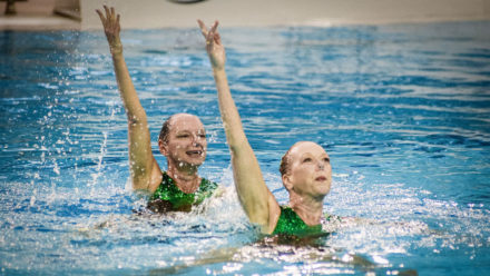 Rushmoor and Seymour prove masters of the duet at Synchro Nationals