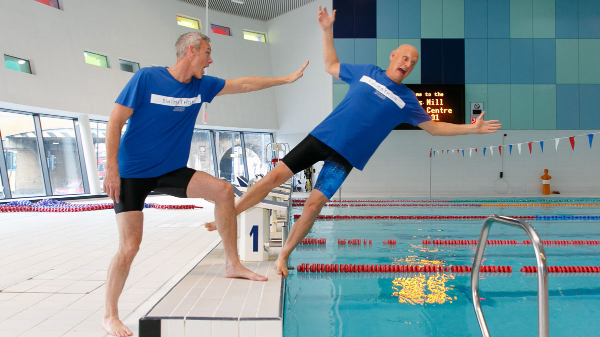 Mark Foster and Duncan Goodhew are part of Swimathon