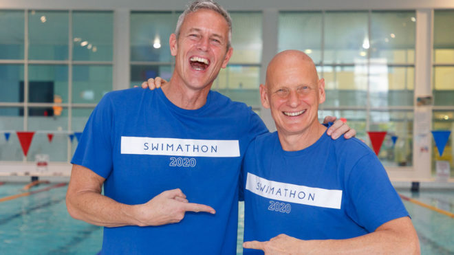 Duncan Goodhew and Mark Foster aim for Swimathon record-breaking year