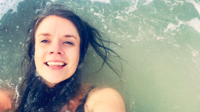 Swimming in the sea helps me relax and 'wash the cares of the world away'