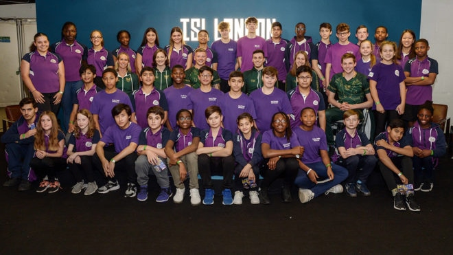 Youngsters get chance to quiz London Roar stars Adam Peaty and James Guy