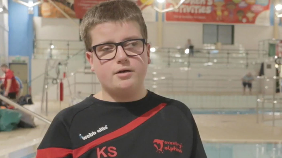 Kian Saville finds solace in swimming after life-changing brain surgery