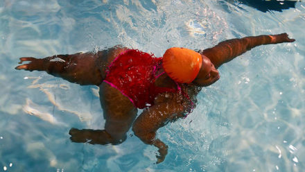 Redbridge swimmer Glynis sends powerful message in This Girl Can campaign