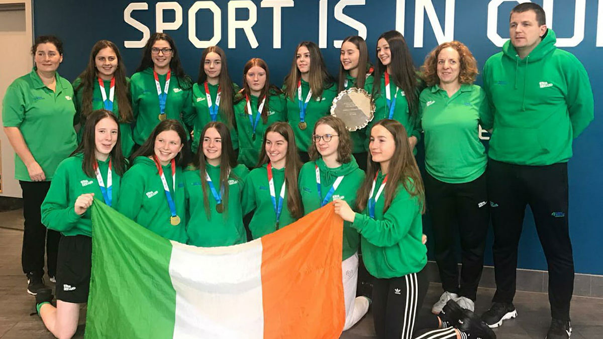 Ireland water polo U18 girls team