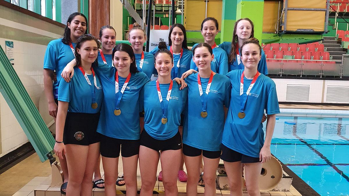 London Sharks U18 girls water polo team