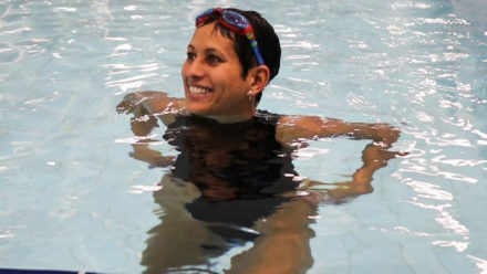 Naga Munchetty motivated by nationwide support on Learn to Swim journey