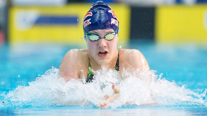 Angharad Evans wins bronze as Swim England youngsters make strides in Nice