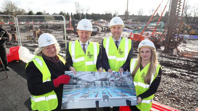 Major construction work starts at aquatics venue for Birmingham 2022