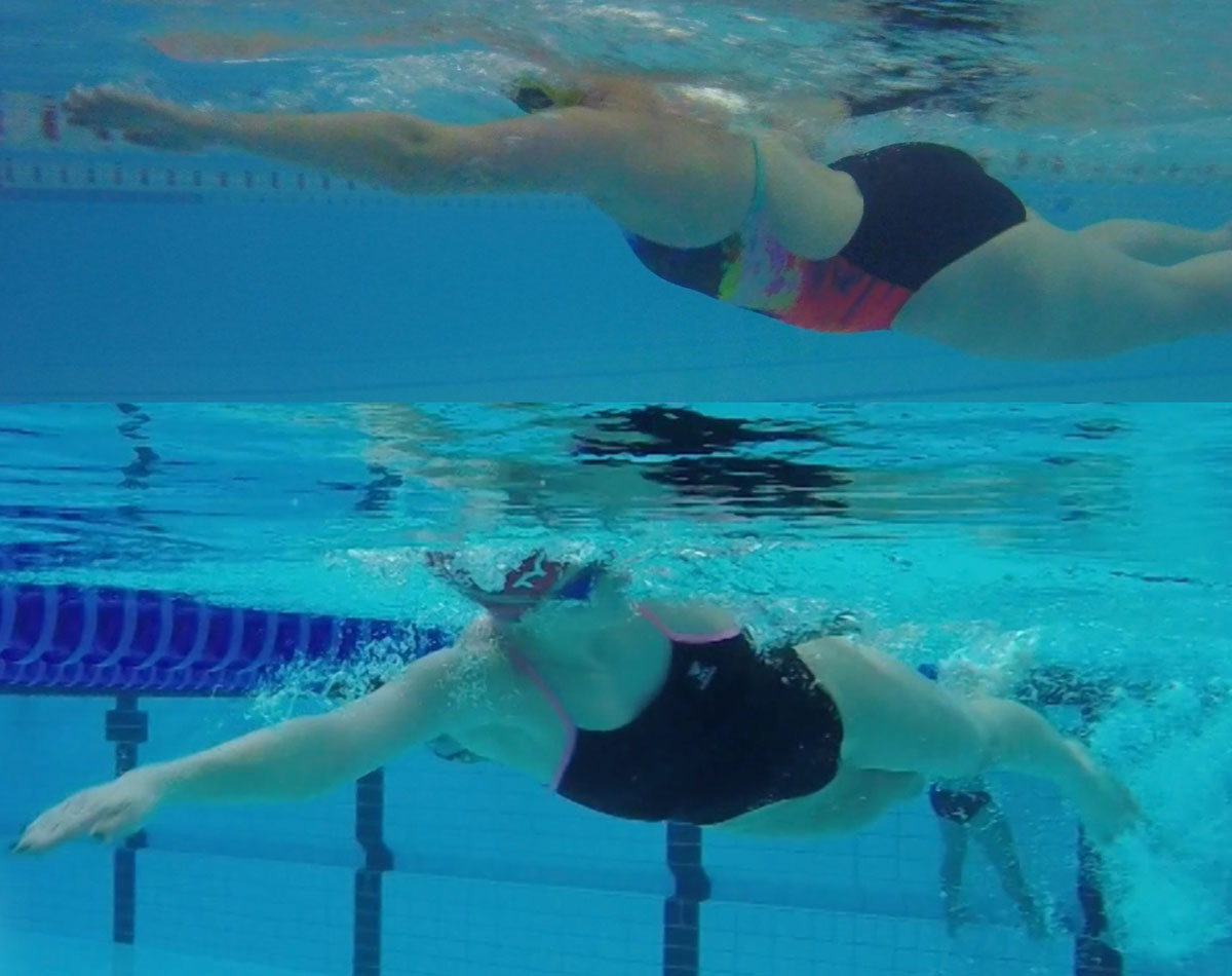 Over reaching in front crawl