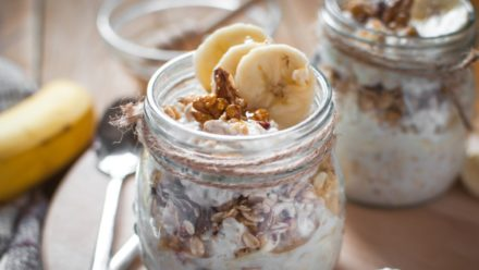 Recipe: Banana Yoghurt Pots