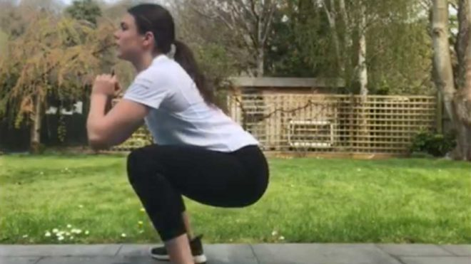 Daniella Lloyd's 100 rep HIIT workout at home for artistic swimmers