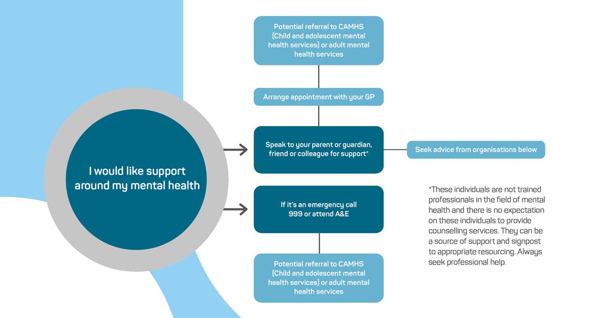 Mental health referral flowchart.