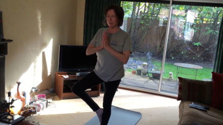 Masters swimmer Amanda Heath using yoga and skipping to get through lockdown