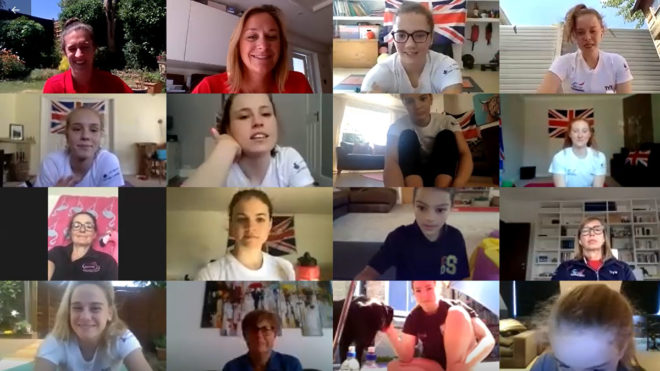 GB artistic swimmers deliver national workout via conference call