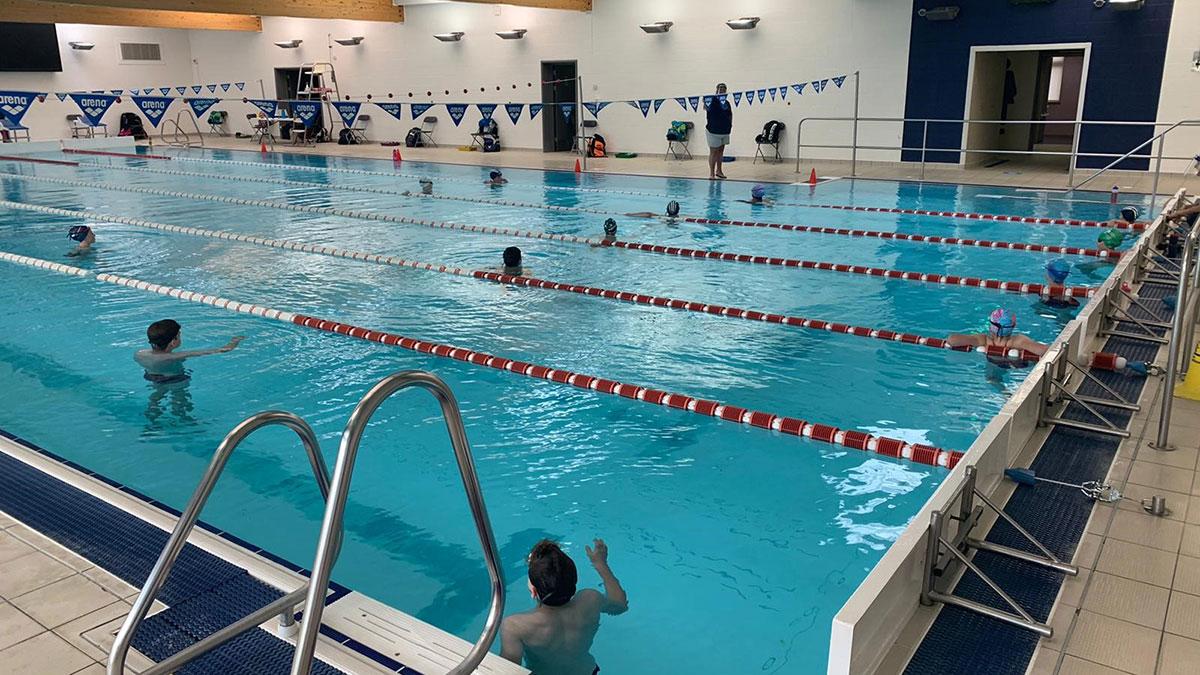 Northampton Swimming Club training session post-lockdown