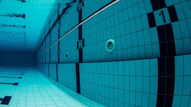 Swimming pool underwater