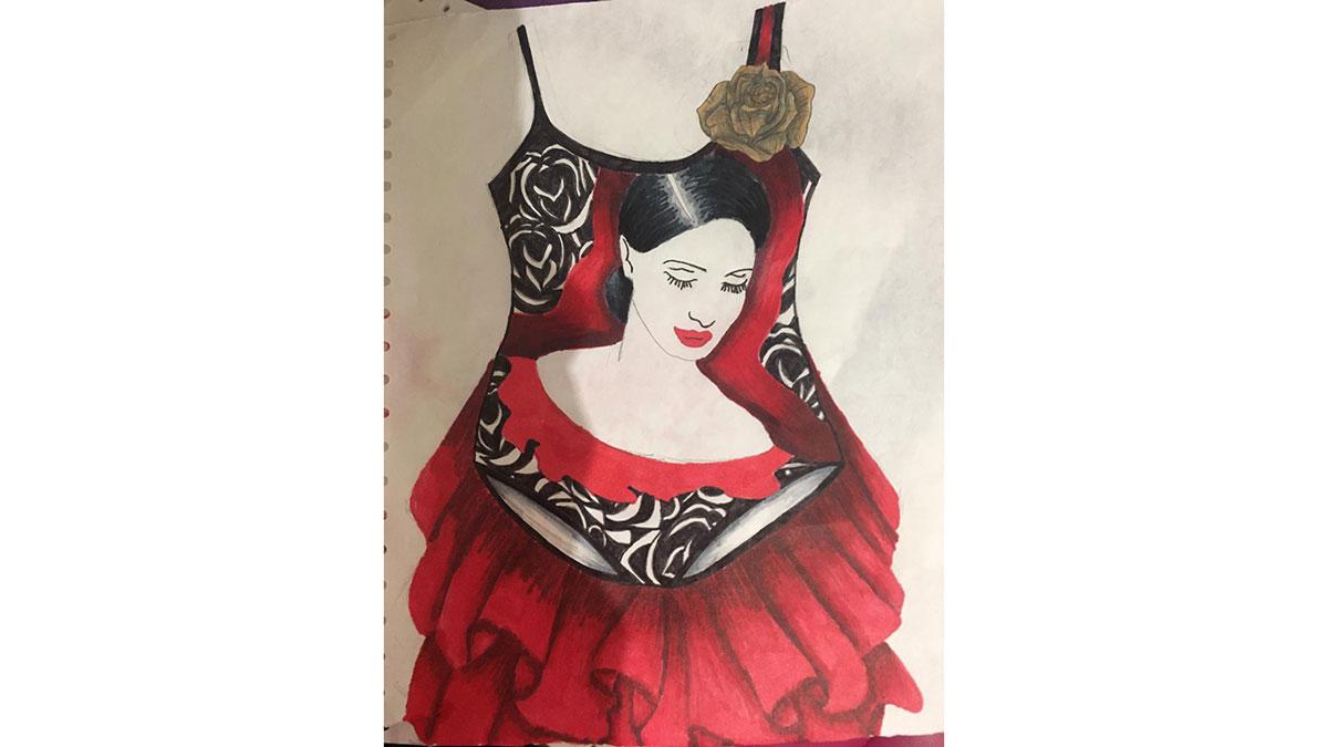 Catherine Reeke's artistic swimming costume design