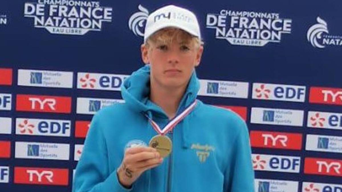 Hector Pardoe sets British record for 25km swim at French National Open