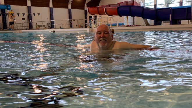 Steve Wright says swimming can be a 'life saver' for people with diabetes